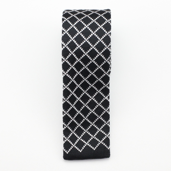 Kruwear diamond knitted necktie neck tie