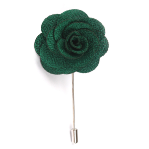Green Lapel Flower Lapel Pin