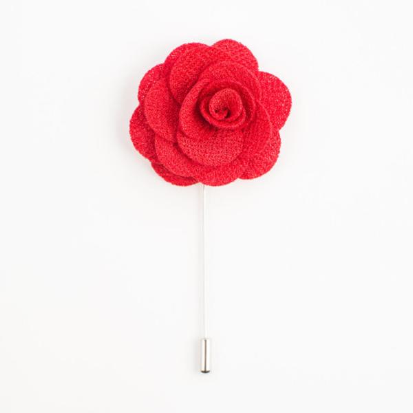 Red lapel Flower