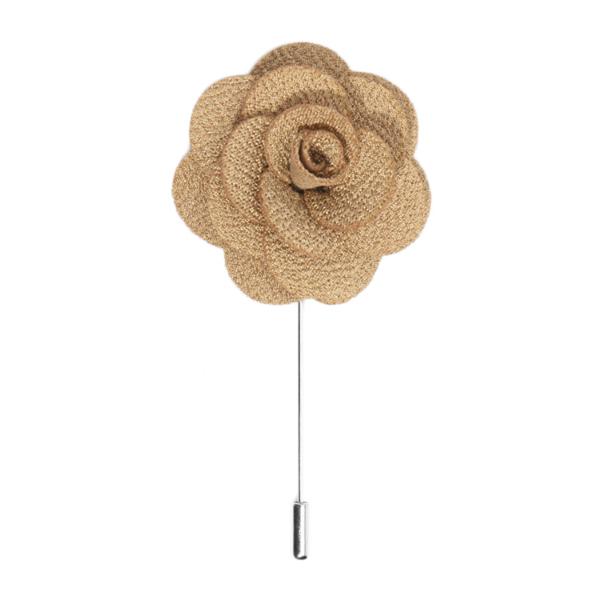 Tan lapel flower
