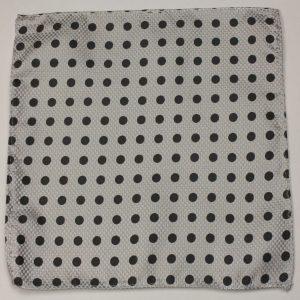 Gray black polk dot pocket square