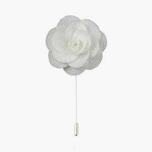 White Rose Lapel Flower Pin