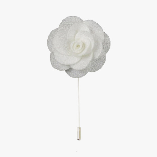 White Rose Lapel Flower Pin