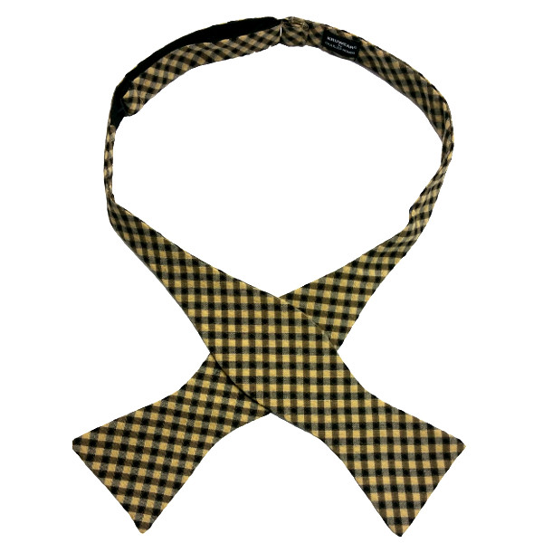 self-tied bow tie by Chicago-based Kruwear