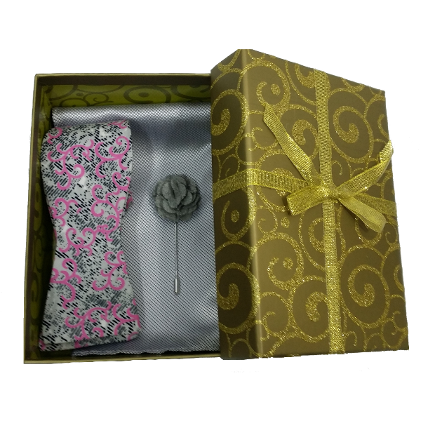 kruwear chicago golakai self-tied bow-tie gift set