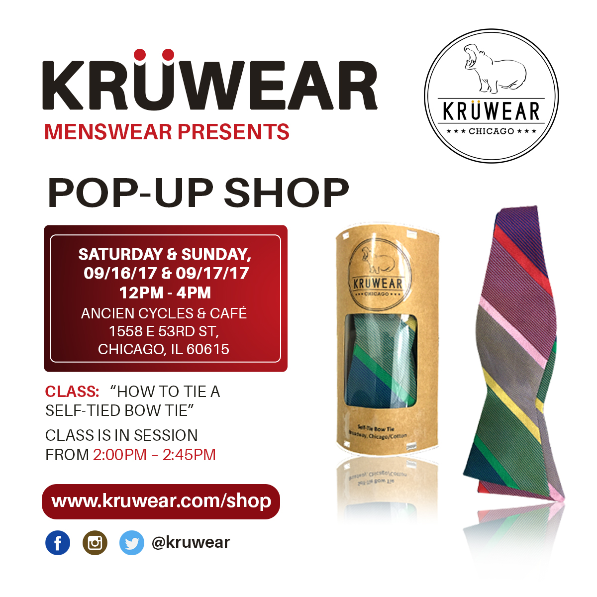 Kruwear Pop-Up Shop