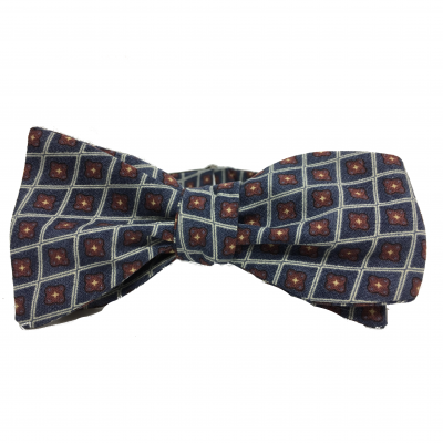 Kruwear 100% cotton self-tied bow tie by Chicago-based bow tie