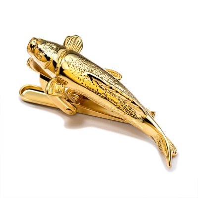 Koi Fish Gold Tie Bar Tie Clip