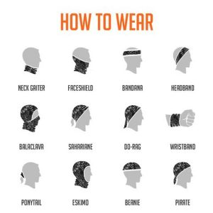 how to wear gaiter face cover
