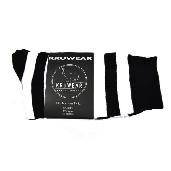Black White Striped Socks
