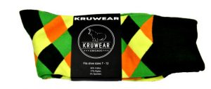 Kruwear argyle men dress socks