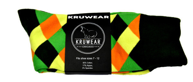 Kruwear argyle men dress socks