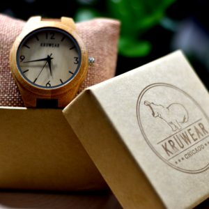 Kruwear bamboo wooden watch