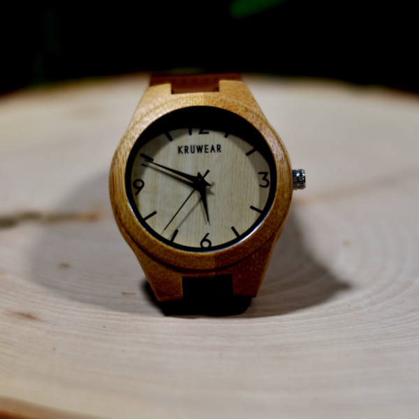 Kruwear bamboo wooden watch