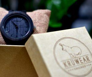 Kruwear Ebony wooden watch