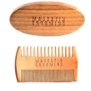 Massatin Grooming beard brush beard comb