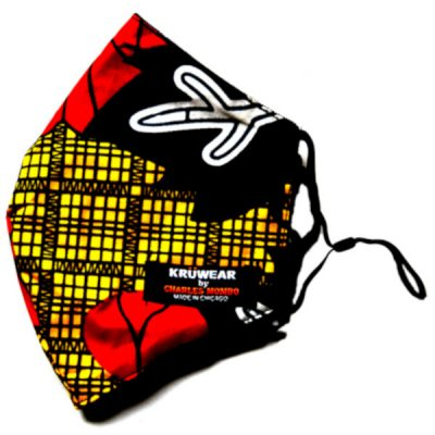Toe-Pleh Kruwear African Print Face Mask