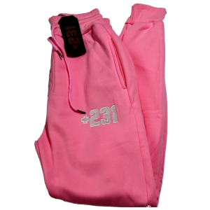 +231 embroidered pink sweatpants