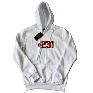 +231 embroidered white hoodie