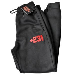+231 embroidered logo black sweatpants